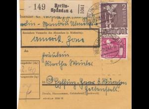 BiZone Paketkarte 1947: Berlin-Spandau nach Haar München