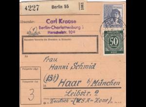 BiZone Paketkarte: Berlin 55 nach Haar