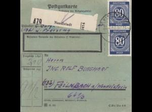 BiZone Paketkarte 1947: Nandlstadt nach Feilnbach Wendelstein