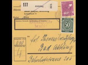 BiZone Paketkarte 1947: Altötting nach Bad Aibling