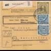 BiZone Paketkarte 1946: Weißenburg nach Bad-Aibling, Pak. v Nässe schütz., Tabak
