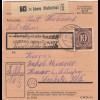 BiZone Paketkarte 1948: Abens Hallertau nach Haar