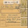BiZone Paketkarte 1946: Rohr über Abensberg nach Aibling