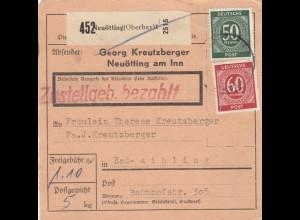 BiZone Paketkarte: Neuötting nach Bad-Aibling, Selbstbucher