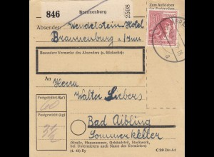 BiZone Paketkarte 1947: Brannenburg nach Bad Aibling