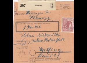 BiZone Paketkarte 1948: Planegg nah Egelfing, Nervenanstalt, 1 Paket