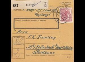 BiZone Paketkarte 1947: Bad Tölz nach Feilnbach