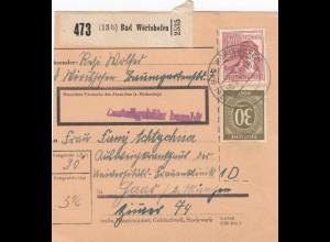 BiZone Paketkarte 1948: Bad Wörishofen nach München, Frauenklinik