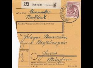 BiZone Paketkarte 1948: Neustadt nach Haar München