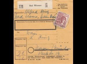 BiZone Paketkarte 1948: Bad Wiessee nach Haar München