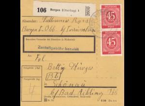 BiZone Paketkarte: Bergen nach Schönau Bad Aibling