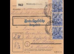 BiZone Paketkarte 1948: Heimbrechts nach Neukeferloh