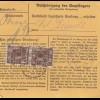 BiZone Paketkarte 1948: Edenstetten nach Haar b. München