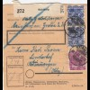 BiZone Paketkarte 1948: Mainburg nach Oberammergau Lindenhof