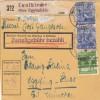 BiZone Paketkarte 1948: Gangkofen Taufkirchen nach Eglfing Haar