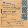 BiZone Paketkarte 1947: Ettringen Wertach nach Haar München