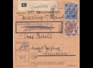 BiZone Paketkarte 1948: Deuerling nach Eglfing, Anstalt