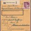 BiZone Paketkarte 1948: Bayersich-Gmain nach Haar Anstalt Eglfing