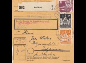 BiZone Paketkarte 1948: Buchbach Küchengeräte nach Putzbrunn
