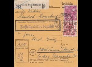 BiZone Paketkarte 1948: Mindelheim Neuried nach Ottobrunn