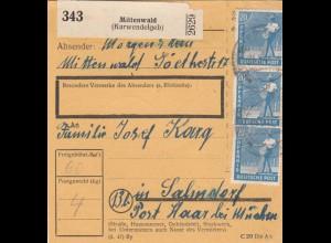 BiZone Paketkarte: Mittenwald nach Salmdorf
