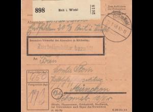 BiZone Paketkarte 1948: Reit im Winkl nach München