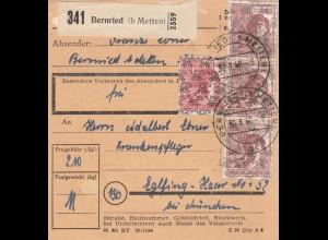 BiZone Paketkarte 1948: Bernried nach Eglfing, Krankenpfleger