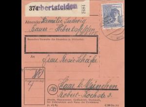 BiZone Paketkarte 1948: Hebertsfelden nach Haar bei München