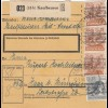 BiZone Paketkarte 1948: Kaufbeuren Heilanstalt nach Haar