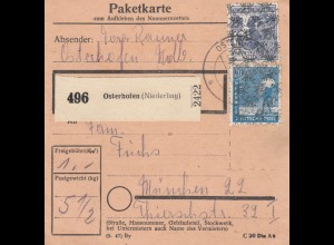 BiZone Paketkarte: Osterhofen nach München