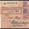 BiZone Paketkarte 1948: Mühlhausen Arnstein nach Haar