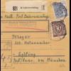 BiZone Paketkarte 1948: Laberweinting nach Eglfing Post Haar