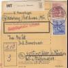 BiZone Paketkarte 1948: Wahrberg Aurach nach Eglfing, Pflegeanstalt