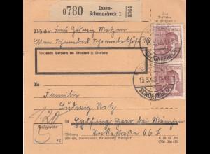 BiZone Paketkarte 1948: Essen-Schonnebeck nach Eglfing