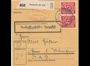 BiZone Paketkarte 1948: Neumarkt - St. Veit nach Haar
