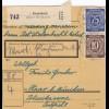 BiZone Paketkarte 1948: Sielenbach nach Haar, Wertkarte