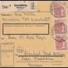 BiZone Paketkarte 1947: Gernsheim nach Feilnbach, Lager Wendelstein