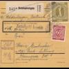 BiZone Paketkarte 1946: Heldenbergen nach Bad Aibling, Wertkarte