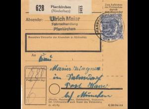 BiZone Paketkarte 1948: Pfarrkirchen nach Salmdorf bei München