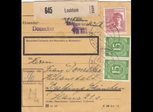 BiZone Paketkarte 1947: Lochham nach Eglfing, Heilanstalt