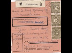 BiZone Paketkarte 1948: Wolfratshausen nach Eglfing Haar