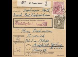 BiZone Paketkarte 1948: Frabertsham Pirach nach Anstalt Eglfing