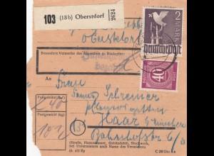 BiZone Paketkarte 1948: Oberstdorf nach Haar
