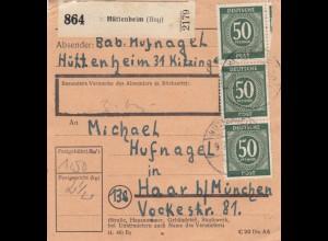 BiZone Paketkarte: Hüttenheim nach Haar bei München
