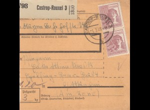 BiZone Paketkarte 1948: Castrop-Rauxel nach Eglfing