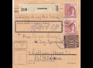 BiZone Paketkarte 1947: Schaufling in Wulreiching nach Eglfing - Wert