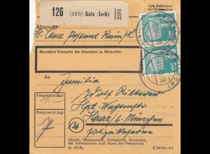 BiZone Paketkarte 1948: Rain (Lech) nach Haar