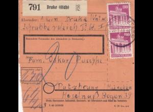 BiZone Paketkarte 1948 : Brake nach Putzbrunn, Nachgebühr