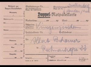 BiZone Paketkarte: Wallersdorf b. Landau, Doppel-Notpaketkarte