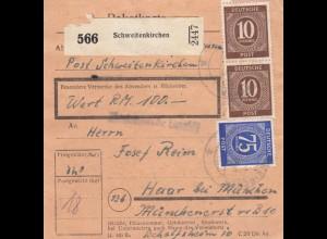 BiZone Paketkarte: Schweitenkirchen nach Haar, Wertkarte